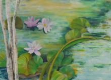 A fleur d'eau - Huile sur toile - 100x73 cm - 2006