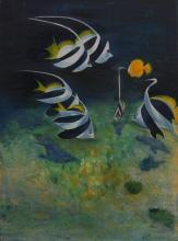 Au fond - Acrylique et Huile sur toile - 54x73 cm - 2005