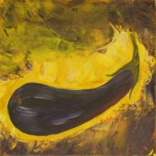Aubergin - Huile sur toile - 20x20 cm - 2003