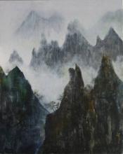 Brumes et Pics - Huile sur toile -73x92 cm - 2009