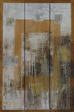 Descente de lit - Huile sur bois et collages - triptyque- 60x90 cm - 2009