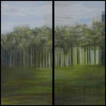 Diptyque - Urbanisme - Huile sur toile - 50x100 cm - 2010