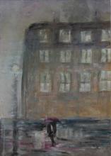 En ville - Huile sur toile - 50x70 cm - 2008