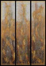 Flamme - Huile sur bois et collages - triptyque- 60x90 cm - 2011