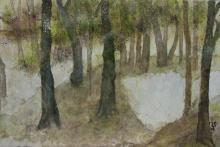 Forêt - Huile sur carton toilé - 60x40 cm - 2008