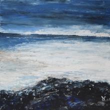 Horizon3 - Flash sur toile - 30 x 30 cm