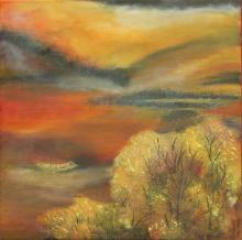 Jonque - Huile sur toile - 50x50 cm - 2005