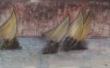 Le vent - Huile sur toile - 61x38cm - 2007