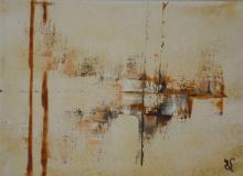 Sable 7 - Huile et sable sur toile - 22x16 cm - 2012