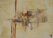 Sable 8 - Huile et sable sur toile - 22x16 cm - 2012