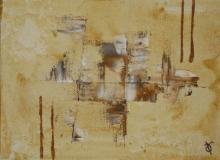Sable 9 - Huile et sable sur toile - 22x16 cm - 2012