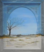 Sans liimtes - Technique mixte Flash et Encre sur toile - 75 x 90 cm (avec cadre) - 2014