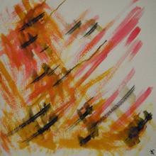 Soundpainting4 - Encre sur papier aquarelle - 40x40cm - 2012