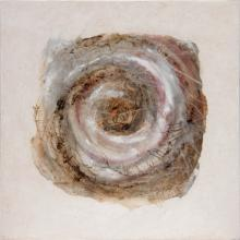 Spirale 2 - Sable et Acrylique sur Toile - 50 x 50 cm