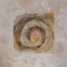 Tourbillons sur Sable - Sable et Acrylique sur Toile - 50 x 50 cm