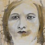 Giflée - Flash et Encre sur toile - 40 x 40 cm