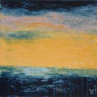 Horizon1 - Flash sur toile - 30 x 30 cm