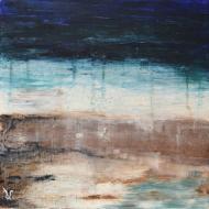 Horizon2 - Flash sur toile - 30 x 30 cm