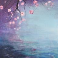 Reflets Rosés - Flash sur toile - 65 x 95 cm