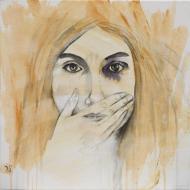 Silence - Flash et Encre sur toile - 40 x 40 cm